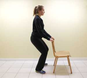 mini-squats exercise