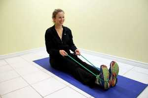 towel-stretch exercise